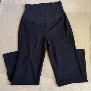 THYME Black Maternity Pants with Belly Panel